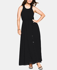 City Chic Trendy Plus Size Halter Bliss Maxi Dress
