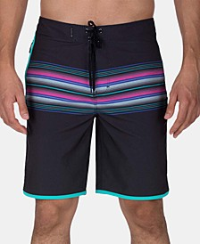 "Men's Phantom Baja Malibu Stretch Quick-Dry Stripe 20"" Board Shorts"