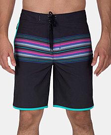 "Hurley Men's Phantom Baja Malibu Stretch Quick-Dry Stripe 20"" Board Shorts"