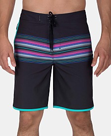 "Hurley Men's Phantom Baja Malibu Stretch Quick-Dry Stripe 20"" Board Shorts"