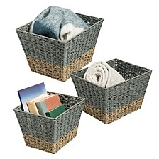 Set of 3 Square Nesting Seagrass Baskets