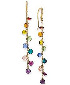 I.N.C. Gold-Tone Crystal Rainbow Shaky Linear Drop Earrings, Created for Macy's
