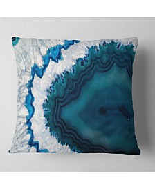 "Designart 'Blue Brazilian Geode' Abstract Throw Pillow - 16"" x 16"""