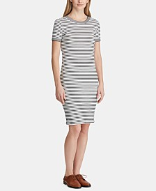 Lauren Ralph Lauren Petite Striped Shirtdress