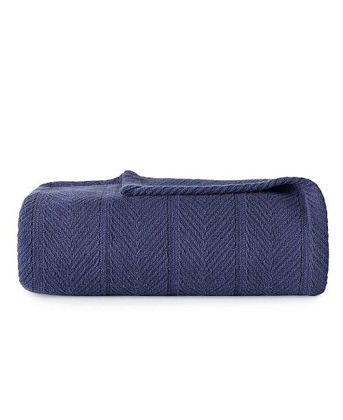 Eddie Bauer Herringbone Cotton Blanket, Twin