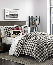 Mountain Plaid Duvet Cover Set, Full/Queen