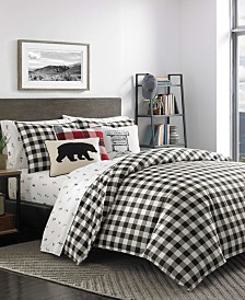 Eddie Bauer Mountain Plaid Duvet Cover Set, Twin