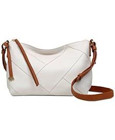 Zip-Top Leather Crossbody Bag