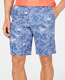 "Men's Tiki Luau 10"" Linen Shorts"