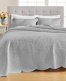 Stenciled Leaves Quilt and Sham Collection, Created for Macy's