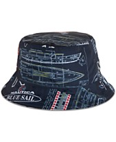 buy popular 10af1 281b7 Nautica Men s Blue Sail Reversible Logo Graphic Bucket Hat, Created for  Macy s