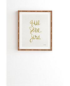 Deny Designs Cat Coquillette Que Sera Sera Gold Framed Wall Art