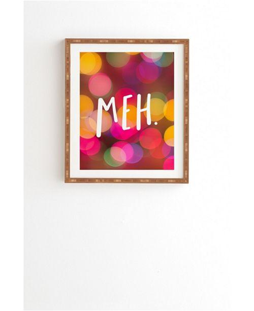 Deny Designs Meh Framed Wall Art
