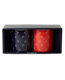 Nautica Set of 2 Boxed Ceramic Mugs