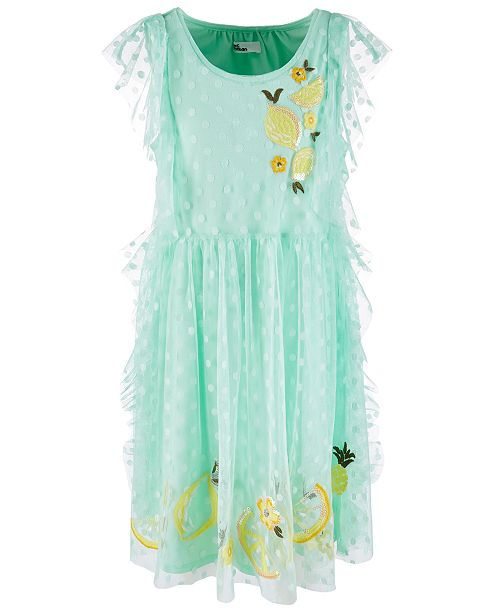 Epic Threads Big Girls Embroidered Dot Mesh Dress, Created for Macy's