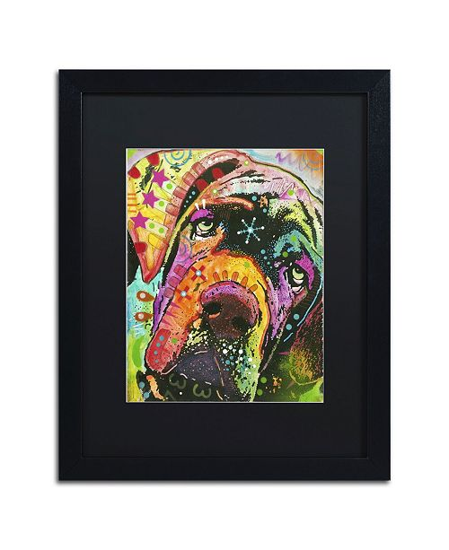 """Trademark Global Dean Russo 'Old Droopyface' Matted Framed Art - 16"""" x 20"""" x 0.5"""""""