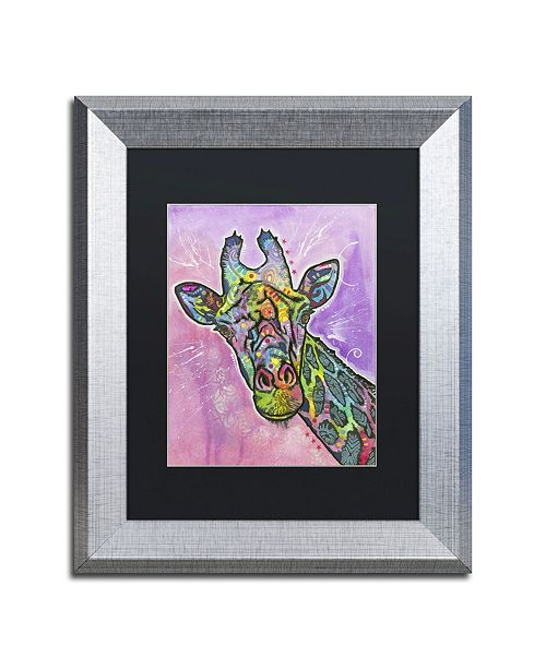 """Trademark Global Dean Russo 'Giraffe' Matted Framed Art - 14"""" x 11"""" x 0.5"""""""