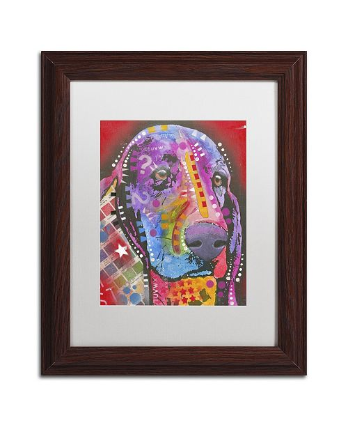 "Trademark Global Dean Russo '28' Matted Framed Art - 14"" x 11"" x 0.5"""