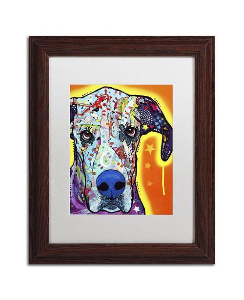 "Trademark Global Dean Russo 'Great Dane' Matted Framed Art - 14"" x 11"" x 0.5"""