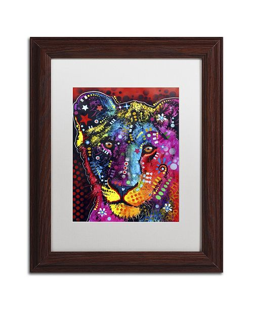 "Trademark Global Dean Russo 'Young Lion' Matted Framed Art - 14"" x 11"" x 0.5"""