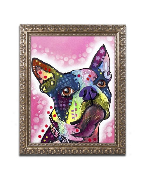 "Trademark Global Dean Russo 'Boston Terrier' Ornate Framed Art - 14"" x 11"" x 0.5"""