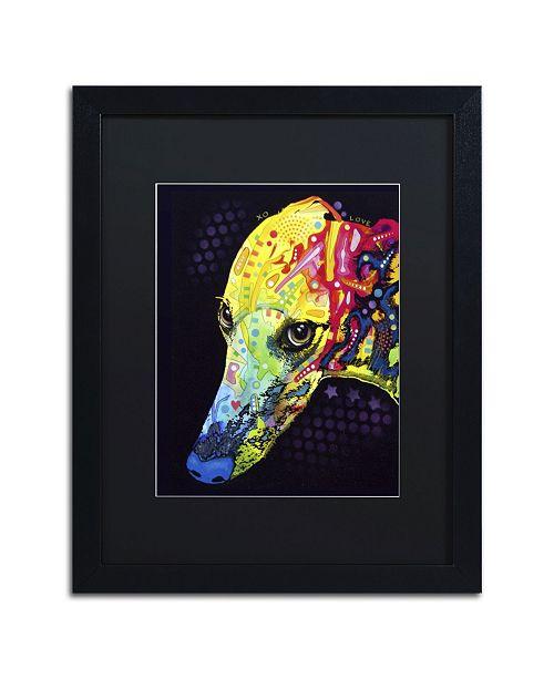 """Trademark Global Dean Russo 'Greyhound' Matted Framed Art - 16"""" x 20"""" x 0.5"""""""