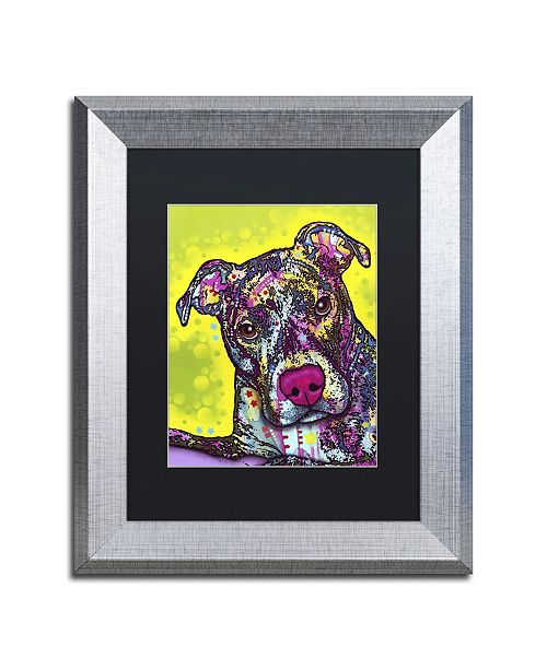 "Trademark Global Dean Russo 'Brindle' Matted Framed Art - 14"" x 11"" x 0.5"""