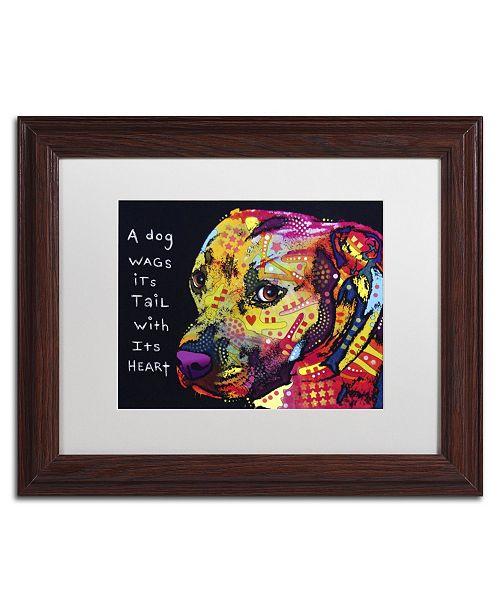 "Trademark Global Dean Russo 'Gratitude Pitbull' Matted Framed Art - 14"" x 11"" x 0.5"""
