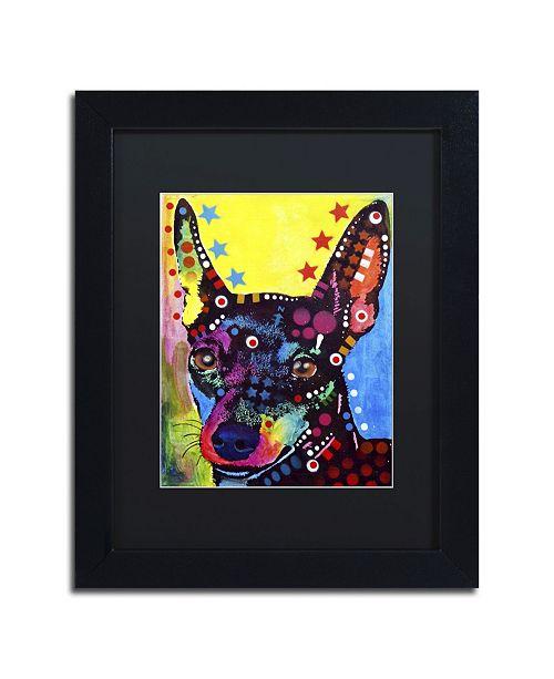 """Trademark Global Dean Russo 'Miniature Pinscher' Matted Framed Art - 11"""" x 14"""" x 0.5"""""""