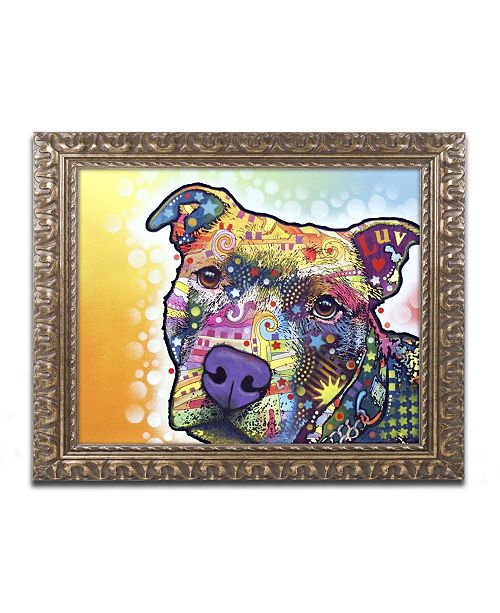 "Trademark Global Dean Russo 'Contemplative Pit' Ornate Framed Art - 14"" x 11"" x 0.5"""