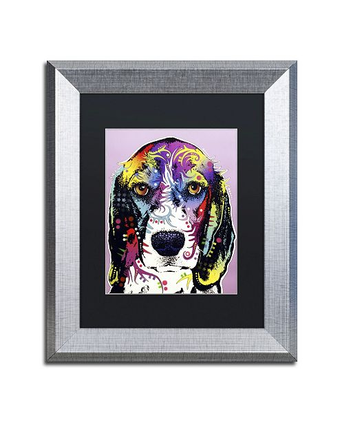 "Trademark Global Dean Russo '4 Beagle' Matted Framed Art - 14"" x 11"" x 0.5"""