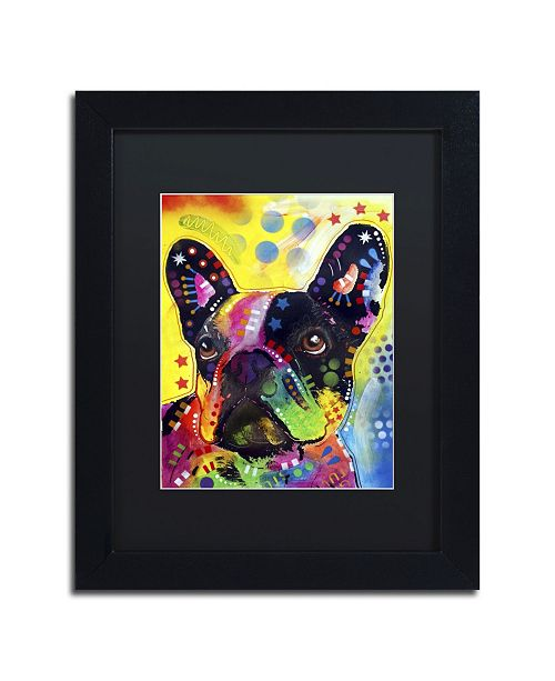 "Trademark Global Dean Russo 'French Bulldog 2' Matted Framed Art - 11"" x 14"" x 0.5"""