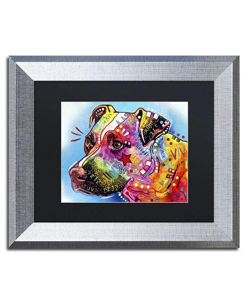 "Trademark Global Dean Russo 'Pit Bull 1059' Matted Framed Art - 14"" x 11"" x 0.5"""
