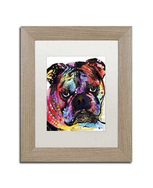 "Trademark Global Dean Russo 'Bulldog' Matted Framed Art - 14"" x 11"" x 0.5"""