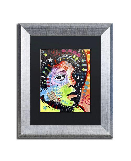 """Trademark Global Dean Russo 'Michael Jackson' Matted Framed Art - 14"""" x 11"""" x 0.5"""""""