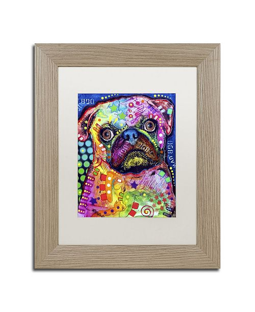 "Trademark Global Dean Russo 'Pug 92309' Matted Framed Art - 14"" x 11"" x 0.5"""
