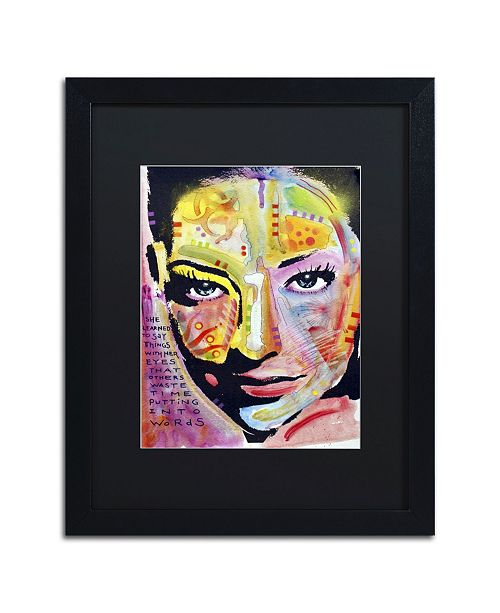 """Trademark Global Dean Russo 'She Learned To Say' Matted Framed Art - 16"""" x 20"""" x 0.5"""""""