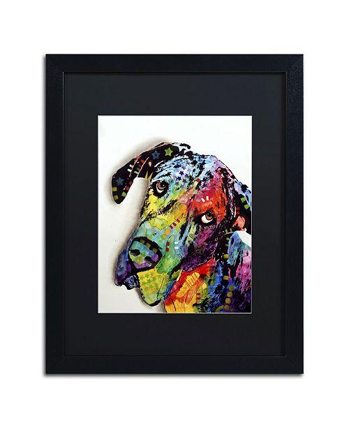"Trademark Global Dean Russo 'Tilted Dane' Matted Framed Art - 16"" x 20"" x 0.5"""