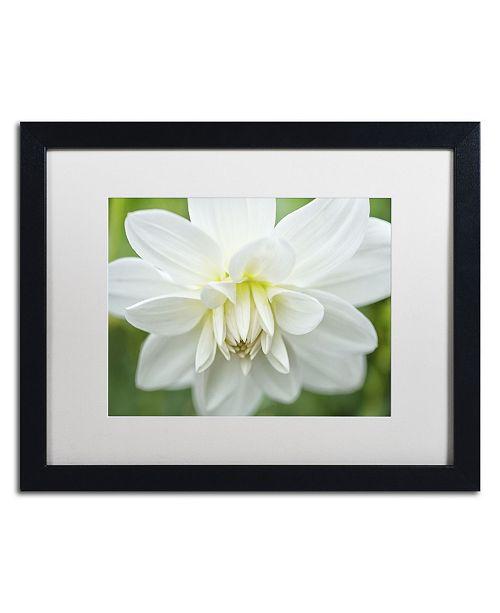 "Trademark Global Cora Niele 'White Dahlia' Matted Framed Art - 16"" x 20"" x 0.5"""