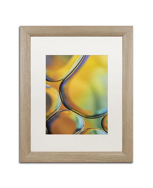 """Trademark Global Cora Niele 'Orange Drops' Matted Framed Art - 20"""" x 16"""" x 0.5"""""""