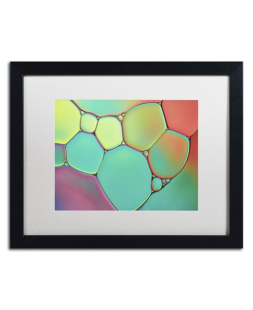 """Trademark Global Cora Niele 'Stained Glass III' Matted Framed Art - 16"""" x 20"""" x 0.5"""""""