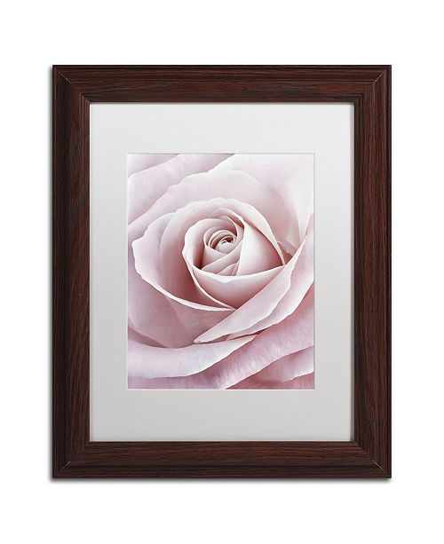 "Trademark Global Cora Niele 'Pink Rose' Matted Framed Art - 14"" x 11"" x 0.5"""