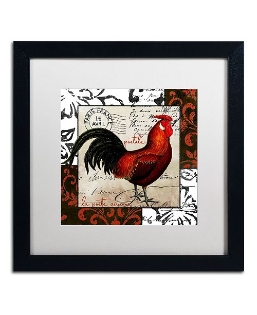 "Trademark Global Color Bakery 'Europa II' Matted Framed Art - 16"" x 16"" x 0.5"""