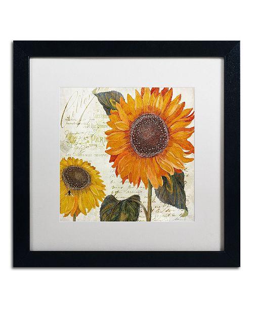 """Trademark Global Color Bakery 'Sundresses II' Matted Framed Art - 16"""" x 16"""" x 0.5"""""""