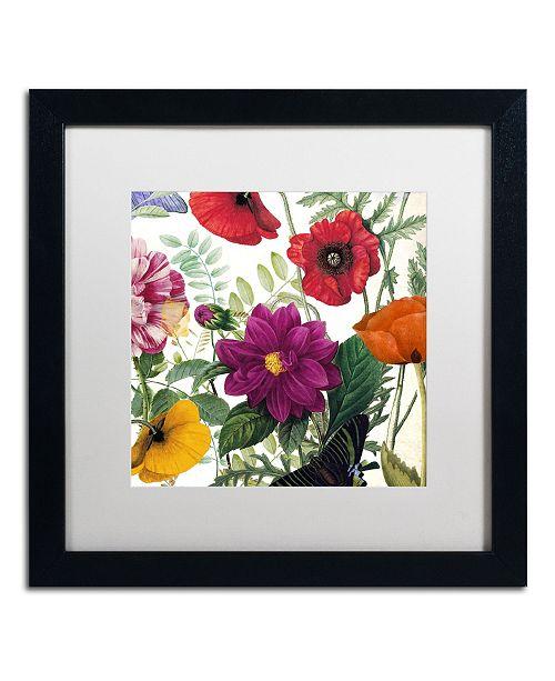 "Trademark Global Color Bakery 'Printemps III' Matted Framed Art - 16"" x 16"" x 0.5"""