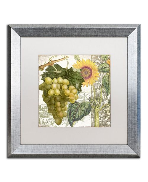 """Trademark Global Color Bakery 'Dolcetto III' Matted Framed Art - 16"""" x 0.5"""" x 16"""""""