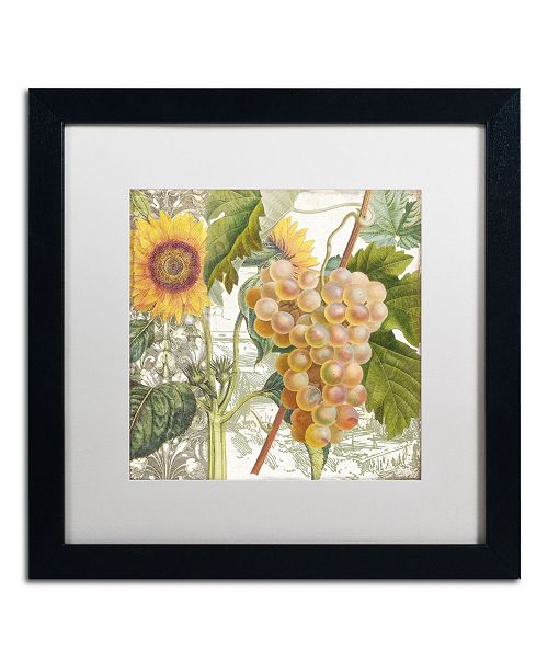 """Trademark Global Color Bakery 'Dolcetto IV' Matted Framed Art - 16"""" x 16"""" x 0.5"""""""