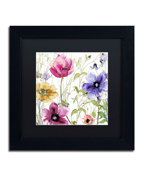 "Trademark Global Color Bakery 'Summer Diary I' Matted Framed Art - 11"" x 11"" x 0.5"""