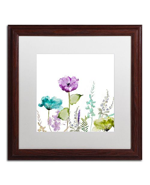 "Trademark Global Color Bakery 'Avril I' Matted Framed Art - 16"" x 0.5"" x 16"""
