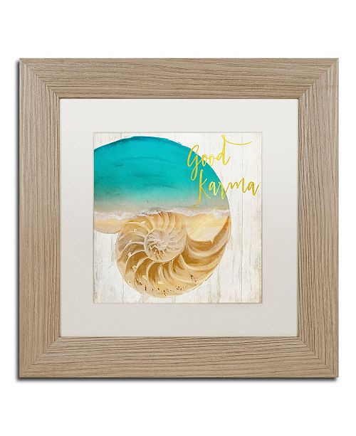 """Trademark Global Color Bakery 'Sea In My Hand' Matted Framed Art - 11"""" x 0.5"""" x 11"""""""